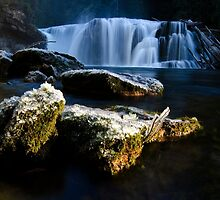 Lower Lewis Falls A Place Of Awe 1 by Bob Christopher