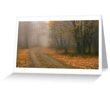 The Bleakness of October Greeting Card