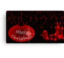 Merry Christmas with candles Canvas Print