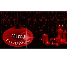 Merry Christmas with candles Photographic Print