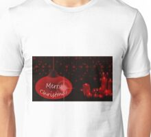 Merry Christmas with candles Unisex T-Shirt