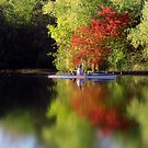 Alone on a lake by Bob Martin