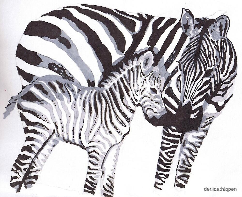 Zebras by denisethigpen