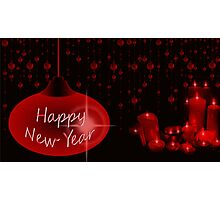 Happy New Year with candles Photographic Print