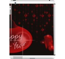 Happy New Year with candles iPad Case/Skin