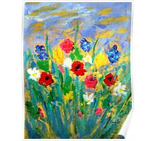 Wild-flowers. Poster