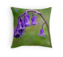 Bluebells (Hyacinthoides non-scripta) Throw Pillow