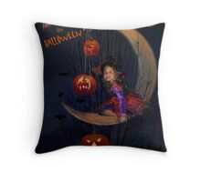 Bewitched (On Halloween) Throw Pillow
