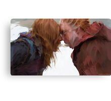 Irisa and Cai with the Keys Canvas Print