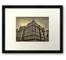 Ansonia Building & Textures Framed Print