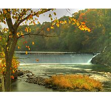 Pownal Tannery Falls in Fall Photographic Print