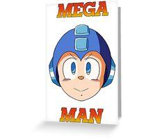 Mega Man Head Greeting Card