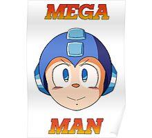 Mega Man Head Poster