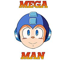 Mega Man Head Photographic Print