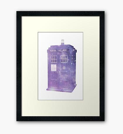 Galaxy TARDIS  Framed Print