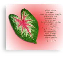 1 Corinthians 13 . . . Love is . . . Canvas Print