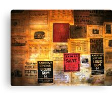 1800s advertising Canvas Print