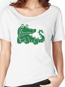 Green crocodile Women's Relaxed Fit T-Shirt