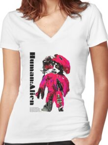 CHYNADOLL#0001 Women's Fitted V-Neck T-Shirt