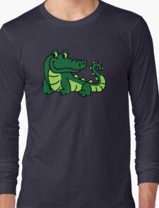Comic crocodile Long Sleeve T-Shirt