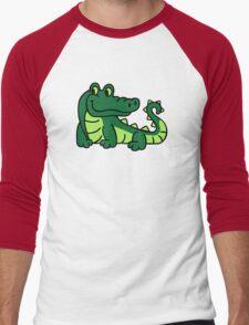 Comic crocodile Men's Baseball ¾ T-Shirt