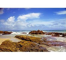 San Juan Rocky Beach, Puerto Rico Photographic Print
