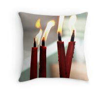Temple Candles Throw Pillow