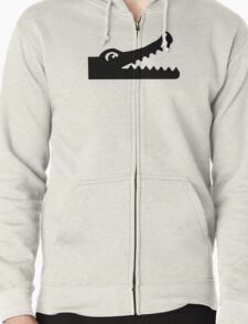 Crocodile head Zipped Hoodie