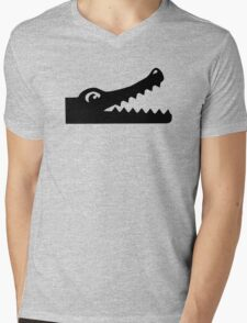 Crocodile head Mens V-Neck T-Shirt