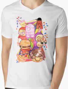 Bad Teeth Cartoon Party Mens V-Neck T-Shirt