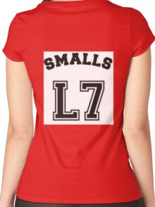 """""""The Sandlot"""" Smalls L7 Women's Fitted Scoop T-Shirt"""