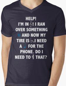 Help! I'm in Treble! Mens V-Neck T-Shirt