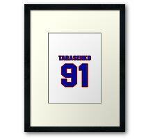 National Hockey player Vladimir Tarasenko jersey 91 Framed Print