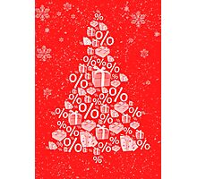 Christmas tree discount Photographic Print