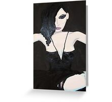 Dita in Black Lace Greeting Card