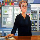 Amy the Barmaid by Guntis Jansons