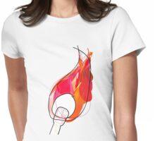 Light my fire Womens Fitted T-Shirt
