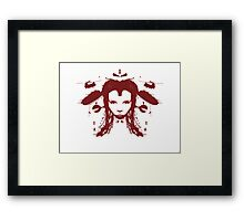 Warchild - Red Framed Print