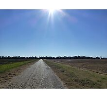 Boring Road With A Sunburst Photographic Print
