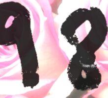 1989 (Floral) Sticker