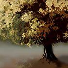 Foggy Tree by Janet Boyd Art