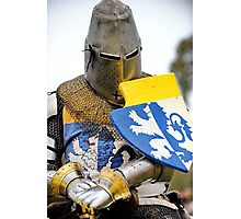 Knight in Chainmail  Photographic Print