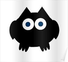Blue Eyed Owl Poster