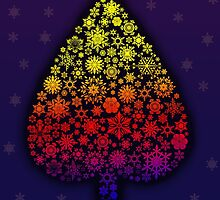 Colored Christmas tree by Viktorcvetkovic