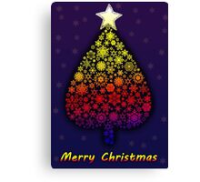 Colored Christmas tree Canvas Print