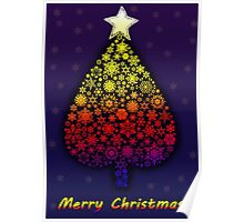 Colored Christmas tree Poster