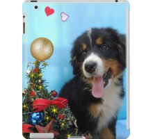 Puppy with its Christmas tree iPad Case/Skin