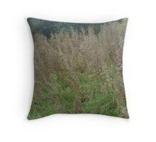 Wild Rushes Throw Pillow