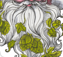 Craft Beer Santa - Cheers! Sticker