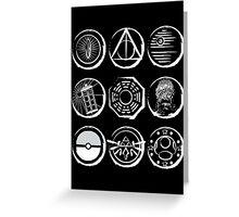 The Nine Symbols Greeting Card